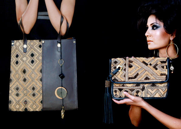 Adele-Dejak-Star-Anise-Bag-and-Oalexia-Kuba-Clutch-Bag-DRC-Independence-Day