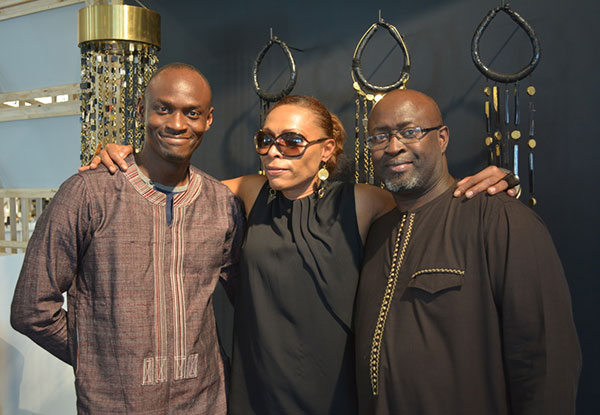 With Hamed Ouattara + Cheik Diallo and at our DNA space