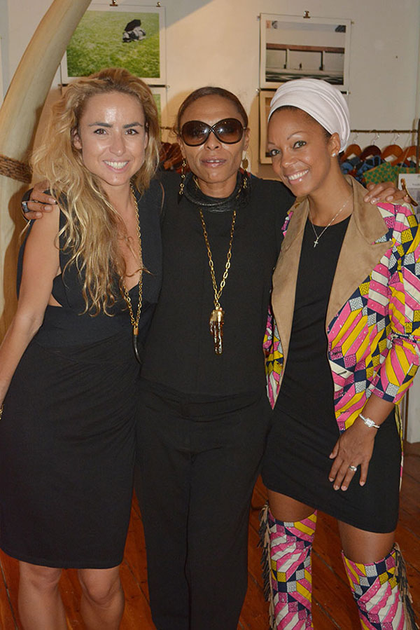 With 2 stunning and talented women, Tammy Tinker and Swaady Martin Leke at Merchants on Long for the launch of Cape Town as World Design Capital (and the launch of a new bag!).