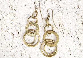 Richa recycled brass earrings