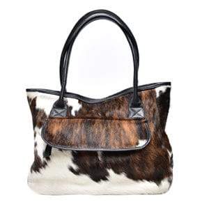 Aamito Hide brown weekend bag