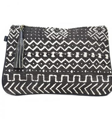 Kaya mud cloth clutch bag