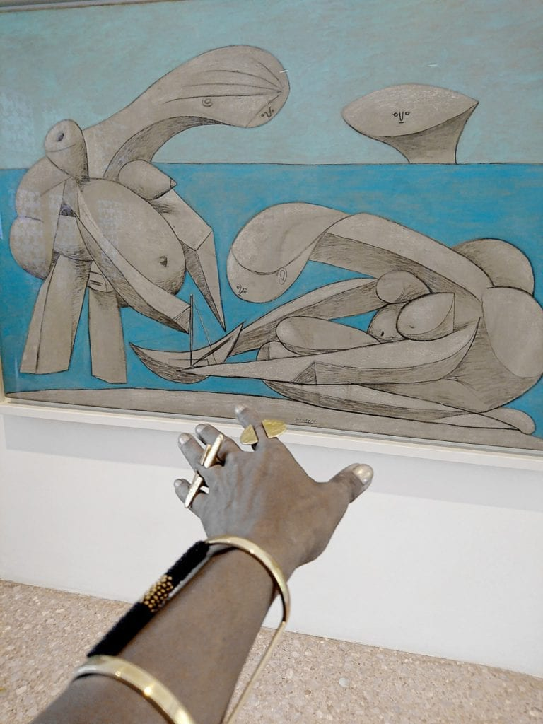 Signature Adele Dejak Hand Selfies with Picasso's work