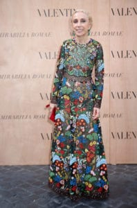 ROME, ITALY - JULY 09: Franca Sozzani attends the Valentinos 'Mirabilia Romae' haute couture collection fall/winter 2015 2016 at Piazza Mignanelli on July 9, 2015 in Rome, Italy. (Photo by Elisabetta Villa/Getty Images)