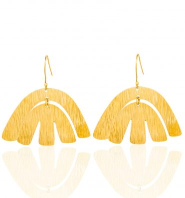 Dhamani Adele Small Brass Earrings