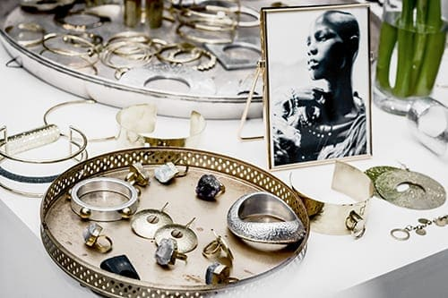 assortment of african jewellery