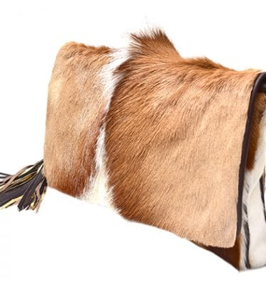 Cow hide clutch oozing luxury